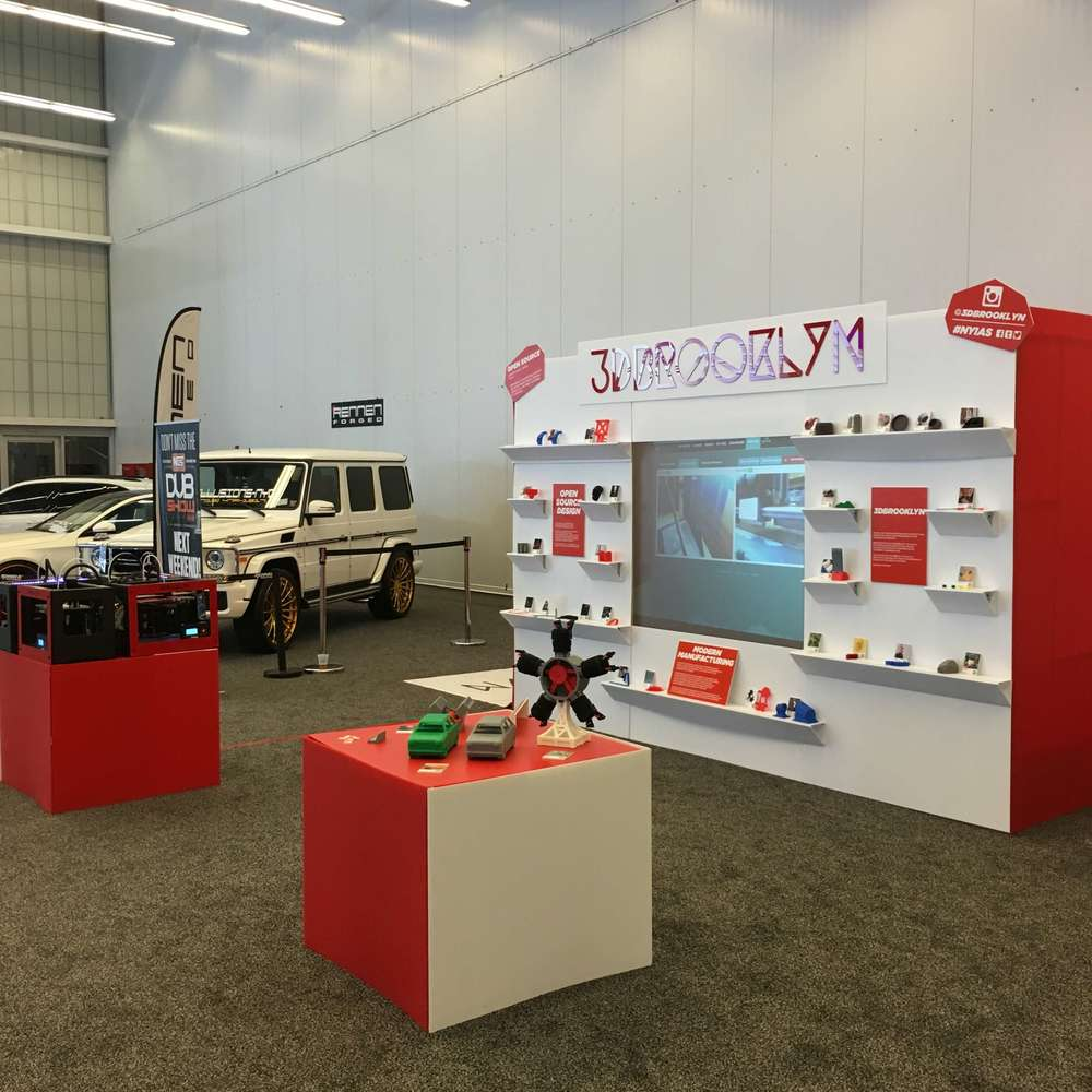 New York International Auto Show 3d Printing live event booth