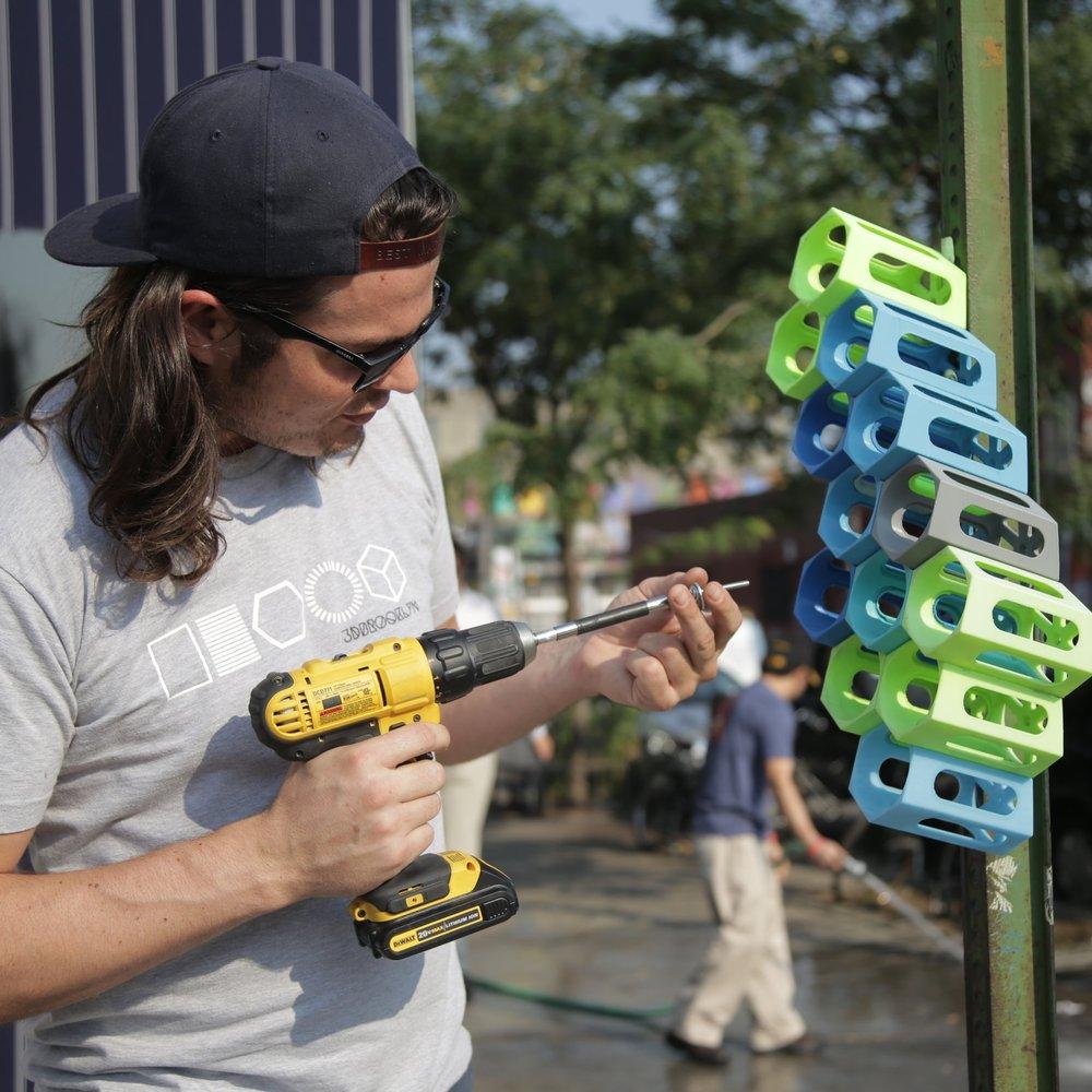 3D Printed Recycled Bins Urban Hubs