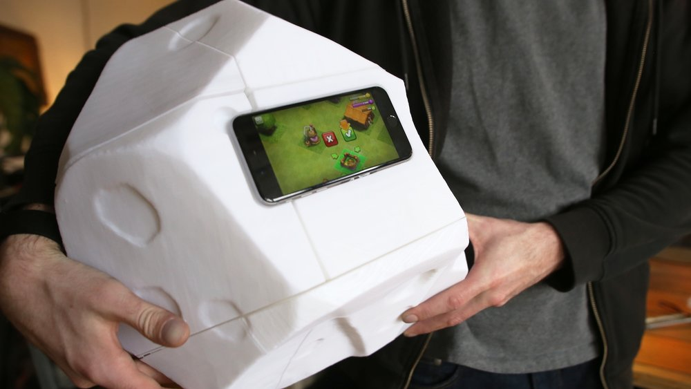 3d printed clash of clans phone case boulder