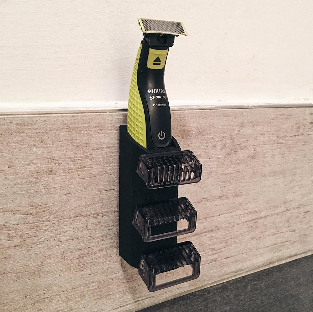 3d printed prototype philips razor mount