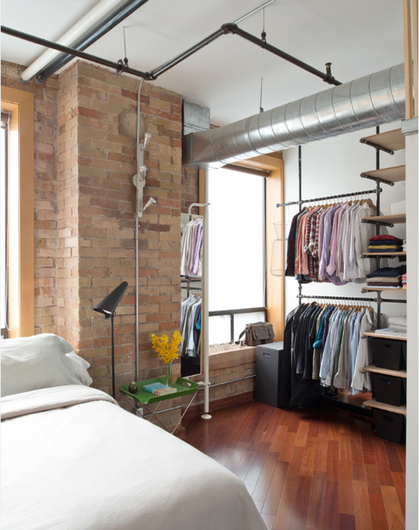 An Open Closet Is A Great Way Of Saving Space In The Bedroom. Pipe Shelves  Are A Very Nice Choice Easy To Install Versatile And Great For A ..