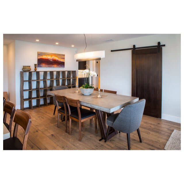 Remember our blog about sliding barn doors? Here is our sliding door installation at a private residence in San Diego. One installation can make a big difference in the atmosphere of a room. Tell us where you would put a sliding door in your house? #slidingdoor #barndoor #slidingbarndoor #diningroom #homedecor #renovation #interiordesign