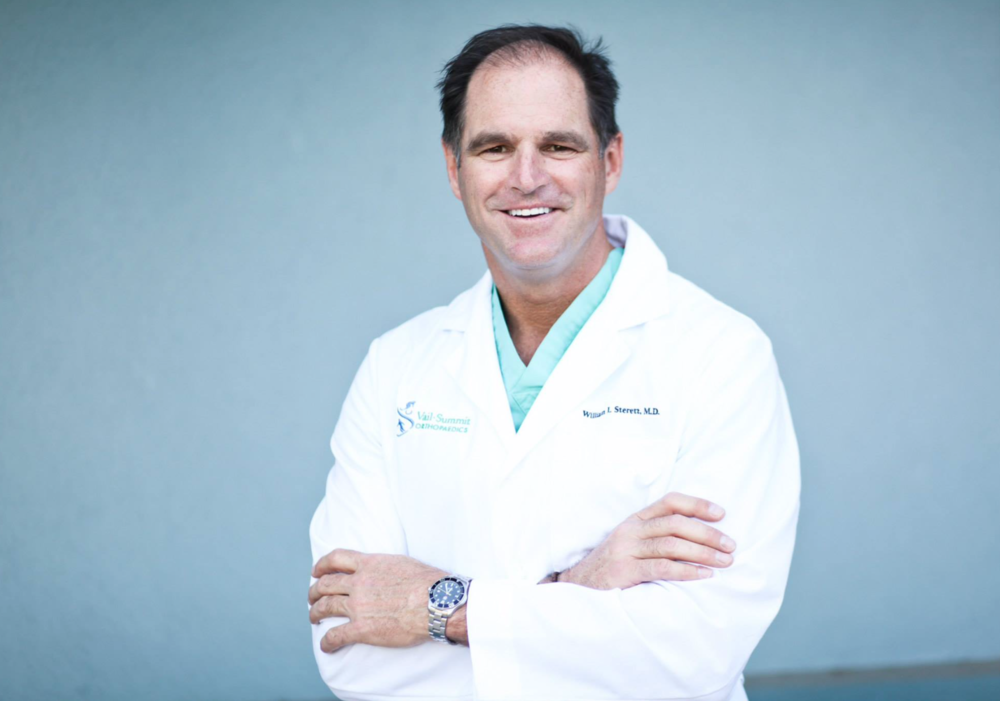 Dr. Sterett is the Head Physician for the U.S. Women's Ski Team. For more about Dr. Bill Sterett, visit www.drsterett.com