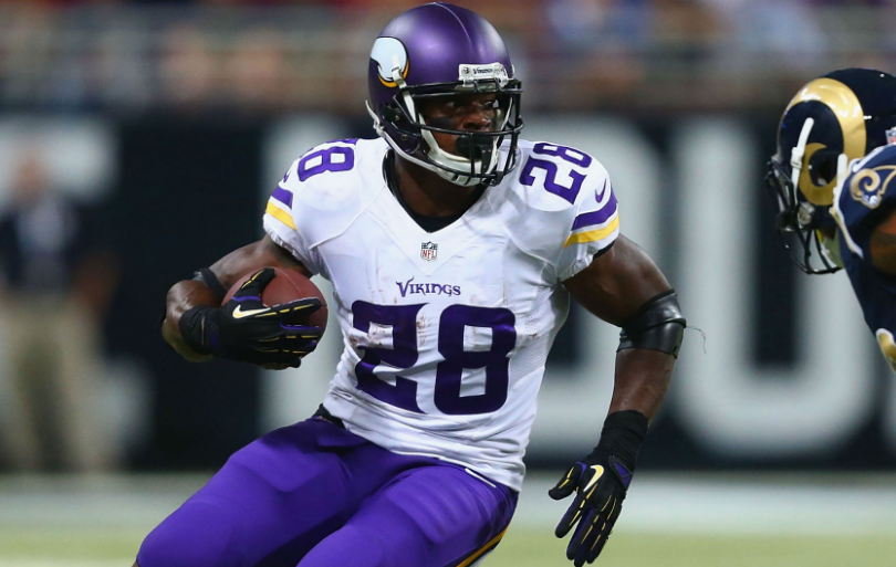 Adrian Peterson has battled knee injuries in the past, and we expect him to return from this one and regain his top form.