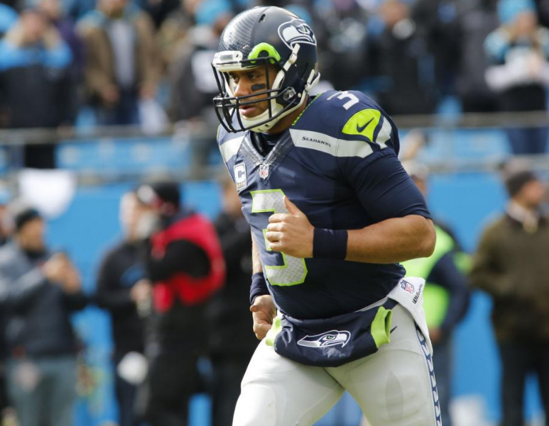 Russel Wilson injured his knee in week three and has dealt with several nagging injuries, but he's leading the charge for a playoff spot.