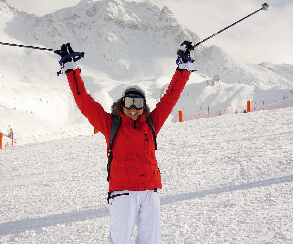 Skiing... -
