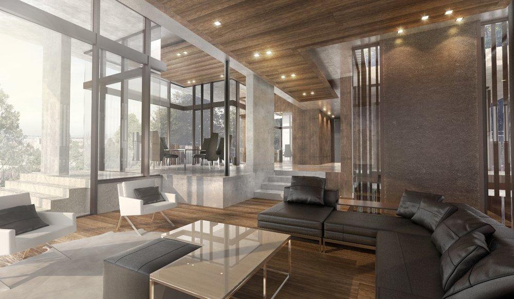 House rendering 3 – architecture interior design - MONOMO