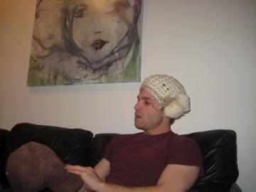 Rocking my winter hat.