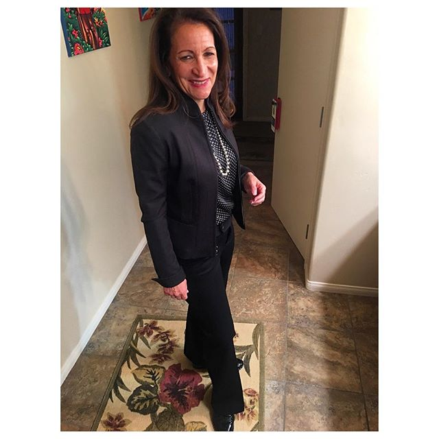 My Butterfly all dressed and ready for her bar review. A cobalt blue silk lined Tahari jacket with cuffs for days defending humans at the big tables. #tellyourtruthtuesday #yas #butterfly #leadership #lesstimeinfrontofthemirror #moretimeinfrontofthetable