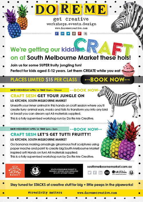 South Melb Market craft sessions