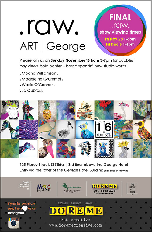 RAW GROUP EXHIBITION 2014  Sell-out group show at Art George, Fitzroy @lookart