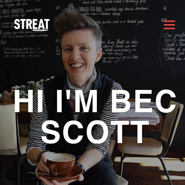 "If you're reading this, you're already risking a bout of dangerous inspiration.  Because you're meeting #BecScott - a powerhouse who set out to solve youth homelessness and ended up with a portfolio of eight thriving businesses serving 2 million customers, and providing 50,000 hours of training to over 500 young people who would otherwise be at risk.  MEET STREAT - a social enterprise doing seriously big good. ""When we started @STREAT in late 2008 we weren't dreaming of unicorns, group hugs and singing Kumbaya,"" says Bec. ""To be honest we were really pissed off. We couldn't imagine what it must be like for a young person to be starting life knowing that the disadvantage, unemployment and poverty that their parents suffered was also to become their fate."" So Bec and her team set about giving young people the personal support, life skills, hospitality training and real work experience they needed to start achieving their personal goals. ""We're determined that our young people should gain the transferrable employability skills that will stand them in good stead in any industry. We teach them how to set a daily routine and turn up to work on time. How to work constructively as a member of a small team. How to be clean and well presented. How to overcome their fears and engage with the customers they serve. How to put on a smile and have a great workplace attitude – even on the days you really, really don't feel like it."" ""But of even greater importance to us, is that our young people learn how deeply we care for them. We want them to know that not just our cafe doors – but also our hearts – remain open to them, no matter what. Yeah, we know that these sentiments sound a bit Hallmark-cardish. But this is the simple truth."" Come and hear from Bec and other world-changing female entrepreneurs @unimelb @wadeinstitute for #melbourneknowledgeweek May 6 moderated by @girledworld Co-founder Madeleine Grummet. Life-changing stuff.  Tickets via #MKW. ✖️✖️"
