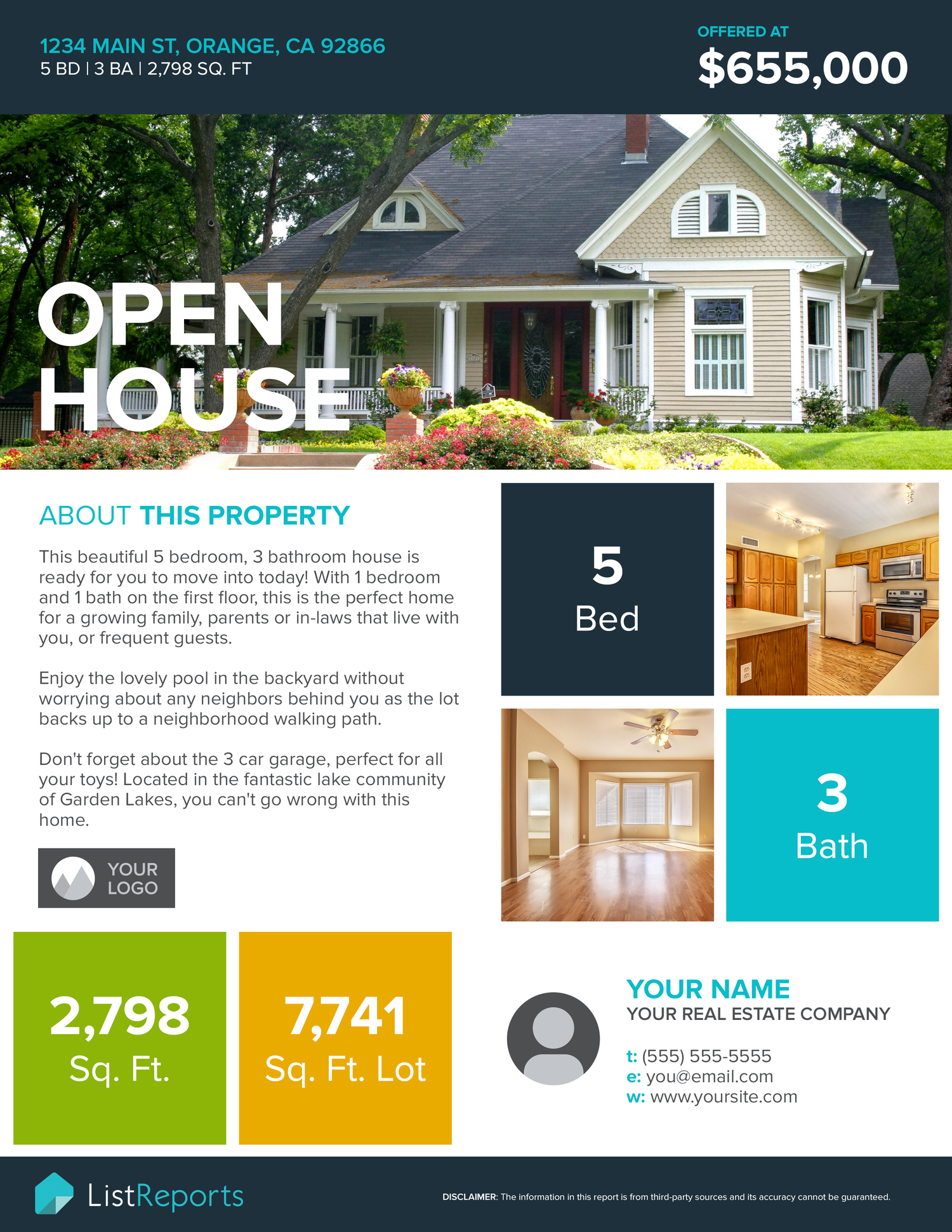 open house flyer sample listreports open house flyer sample