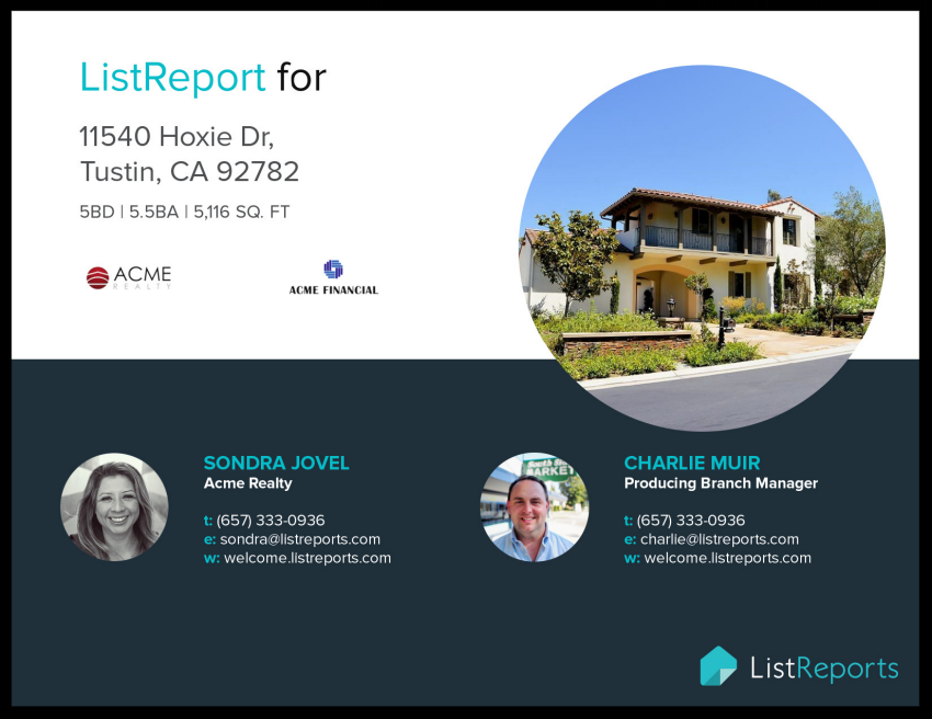 Real Estate Pre-Listing Presentations | ListReports | Page 1