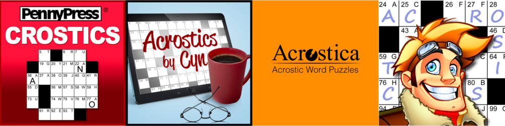 Acrostic puzzles by PennyPress, Acrostics by Cyn, Acrostica and Puzzle Baron