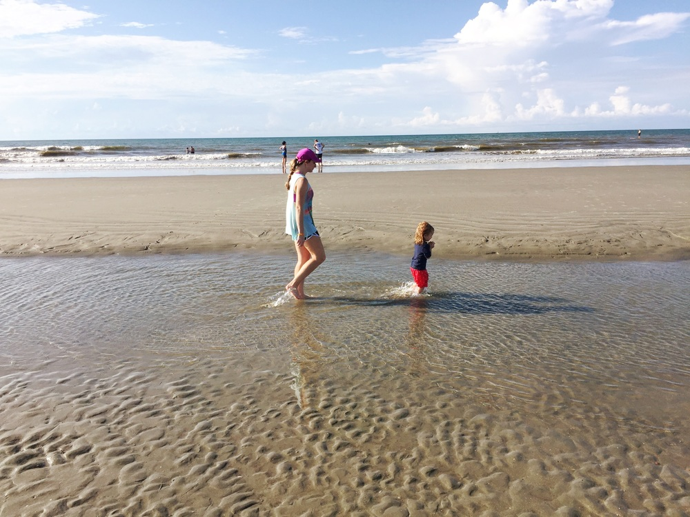 B loved the tide pools!