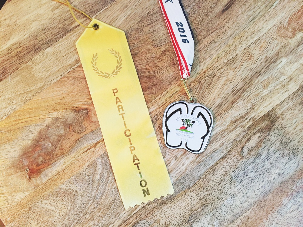 B's participant Ribbon and my AG Medal