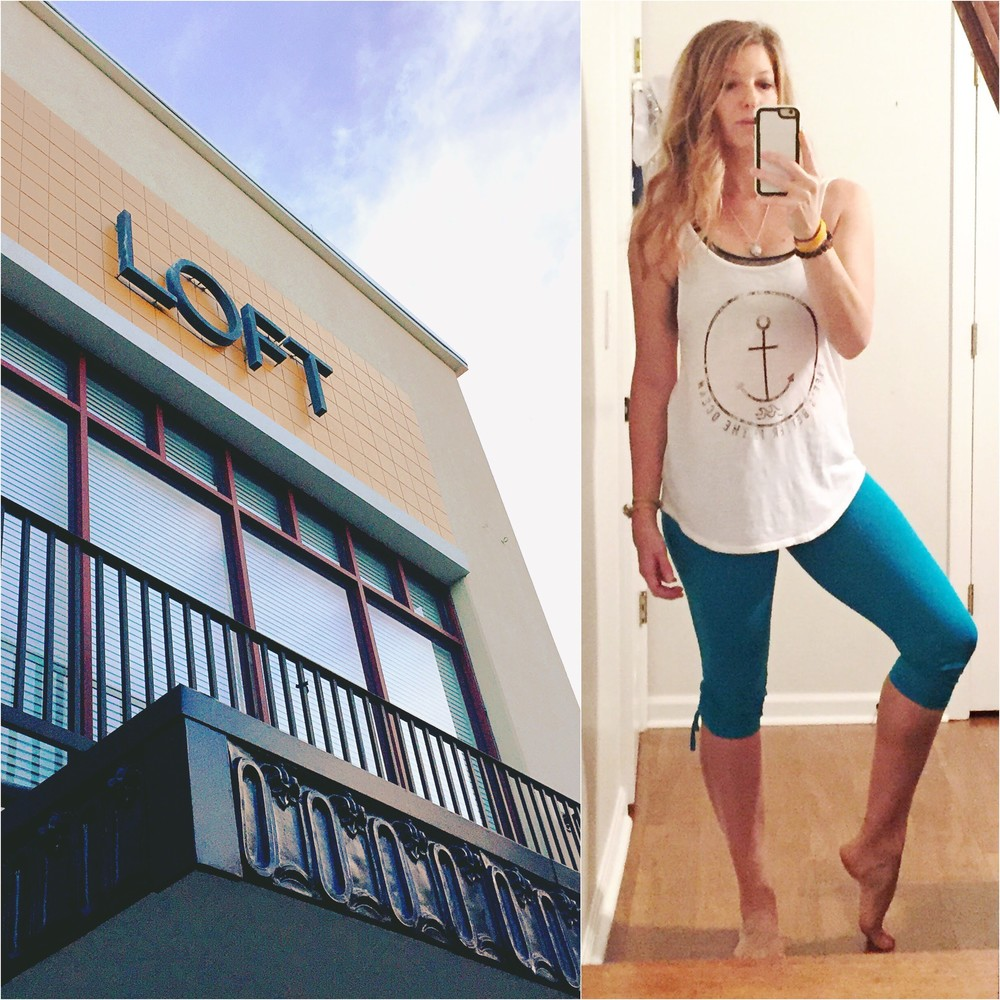 Barre at the LOFT + me in the Shirt Little B bought me for my birthday