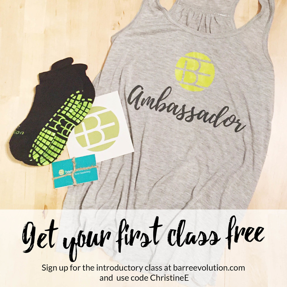 Get your first class free at Barre Evolution   use code: Christinee