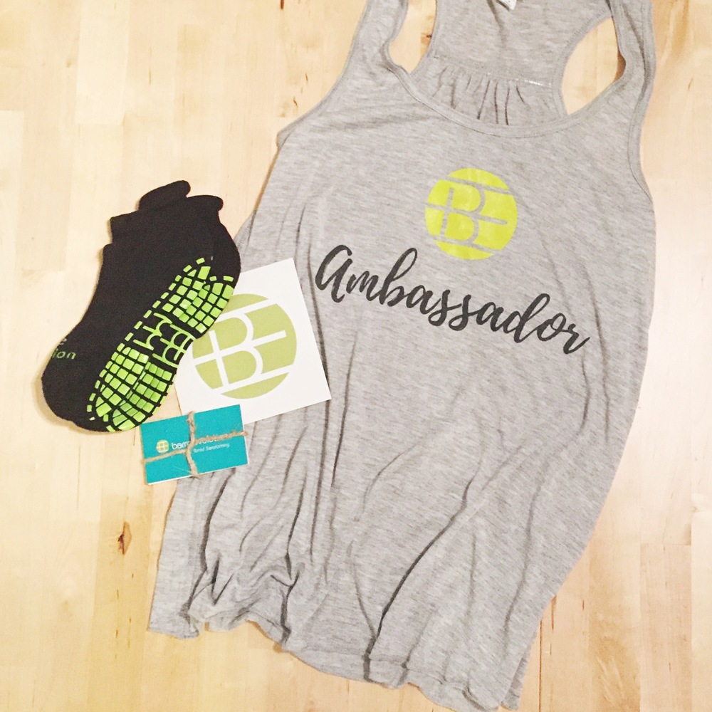 My ambassador gear for barre Evolution