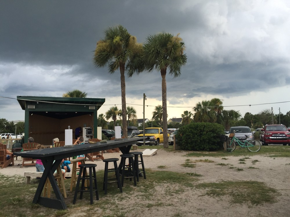 A storm blew right past us at the marina