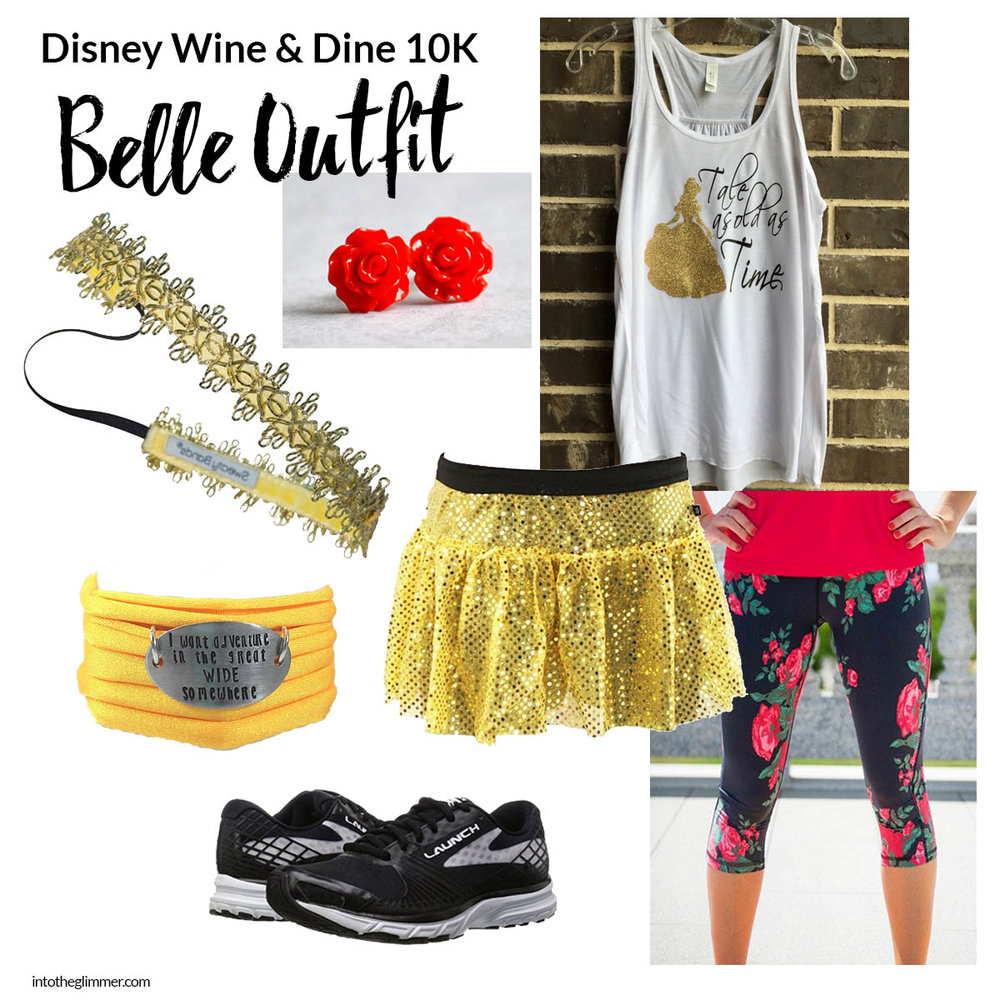 disney wine and dine belle running costume