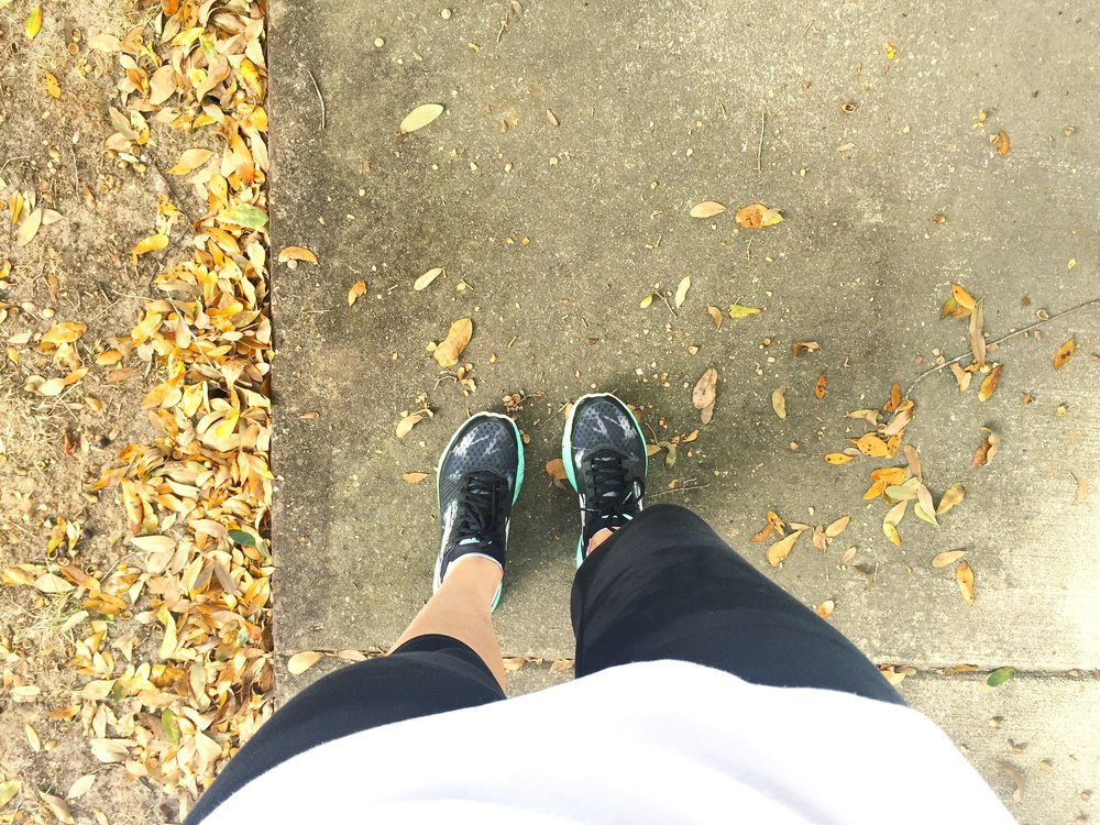 I actually wore capri pants to run instead of shorts! It's fall!