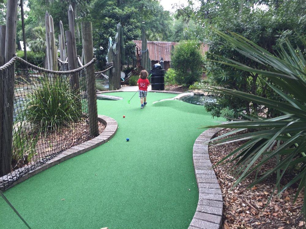 B loves mini golf!