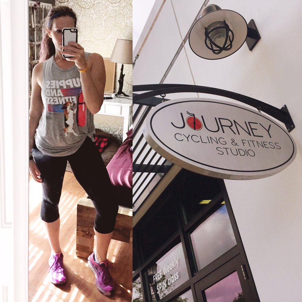 Workout Style at Journey (Shirt:  Puppies make me happy )