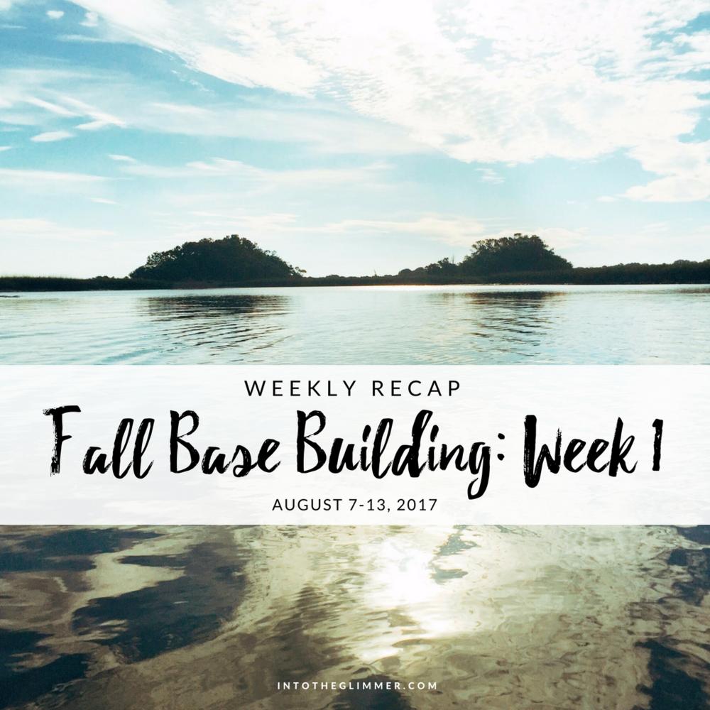fall base building week 1