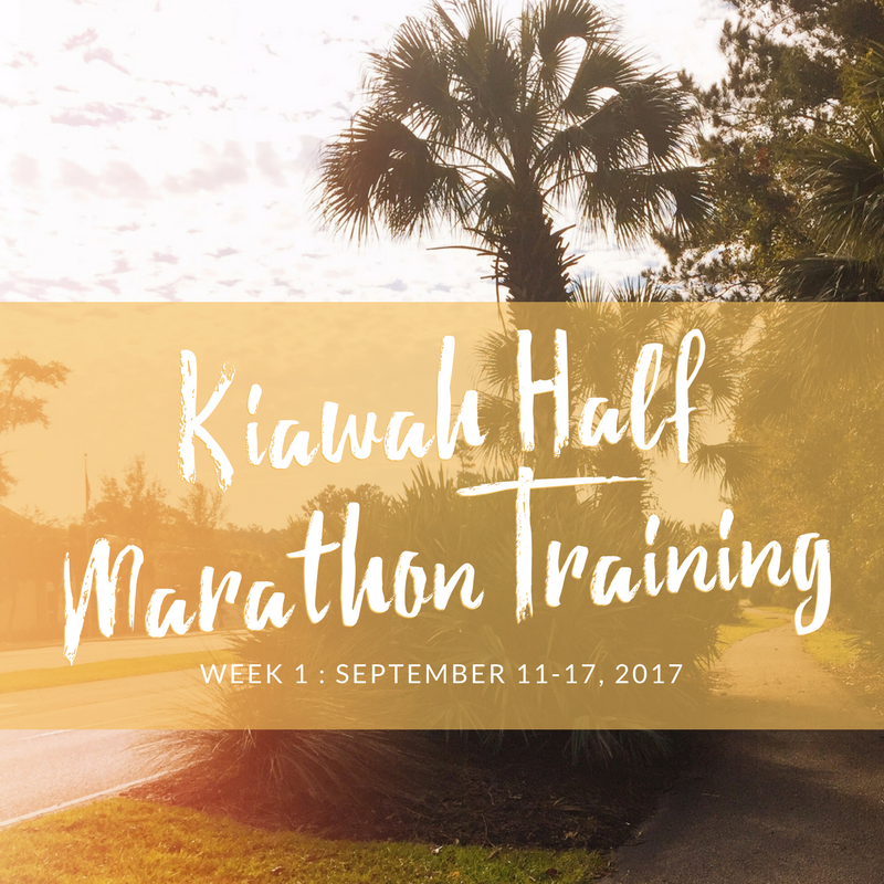 kiawah half marathon training week 1