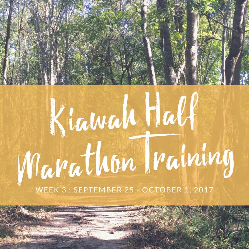 kaiwah half marathon training week 3