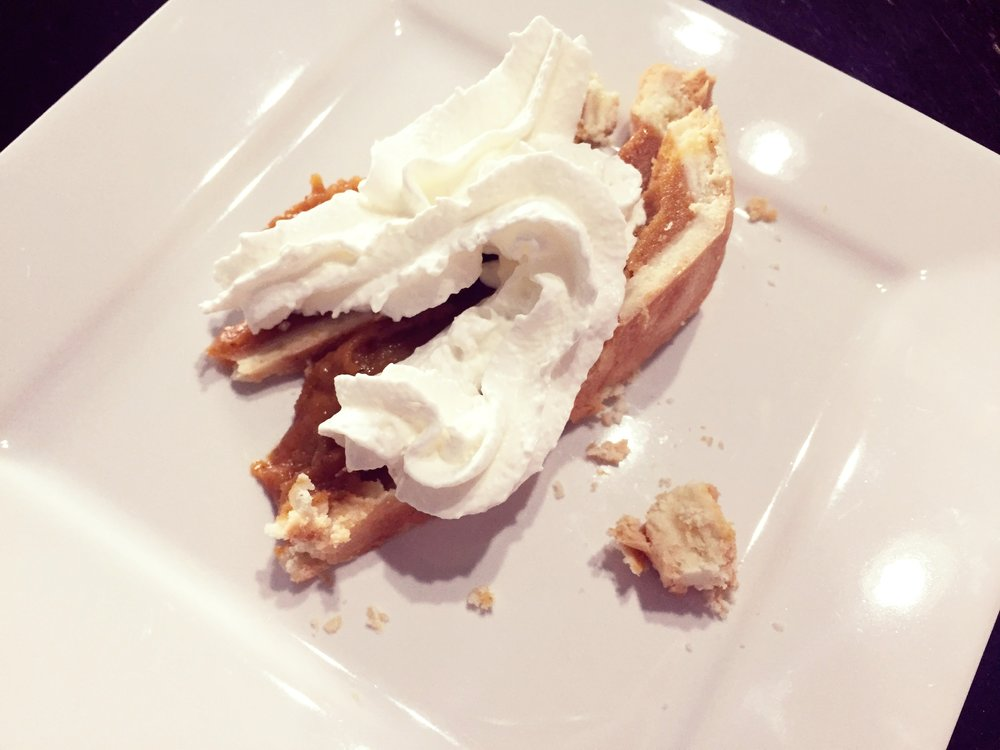 Post Long Run breakfast - Pumpkin PIe (because why not?)
