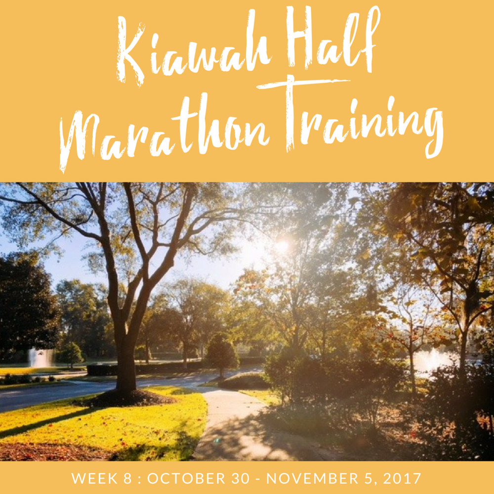 kiawah half marathon training week 8