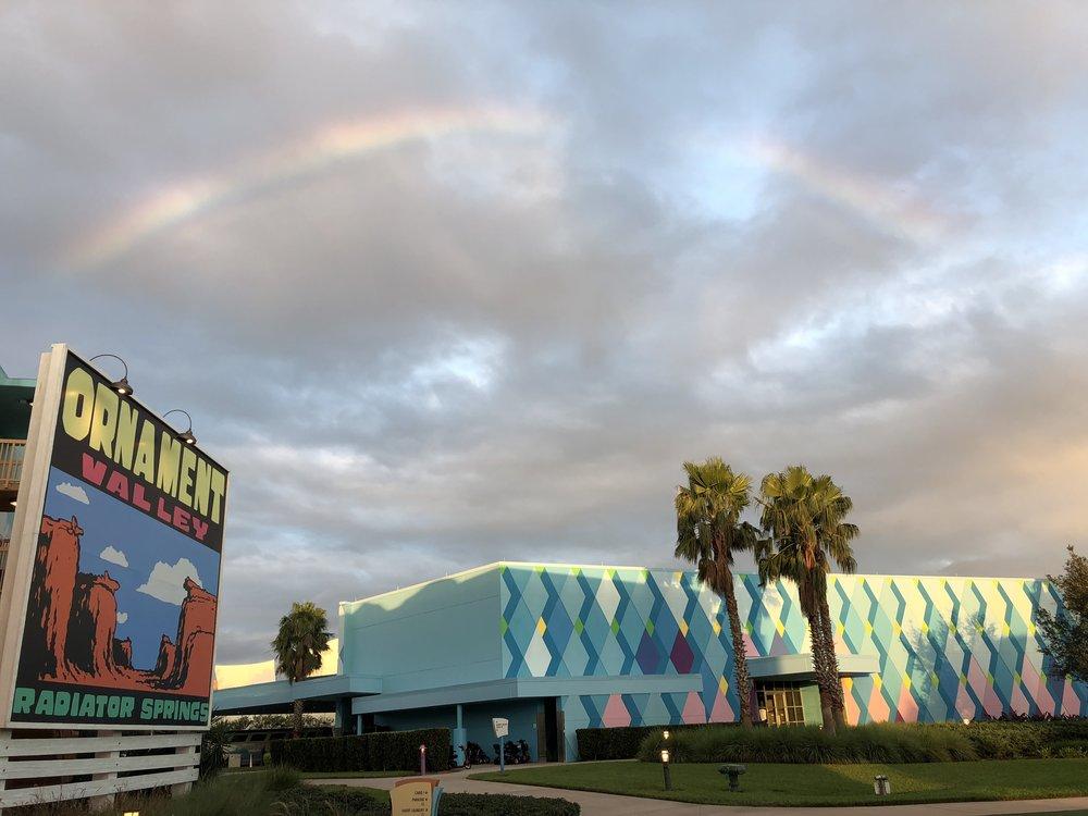 Rainbow over Art of Animation