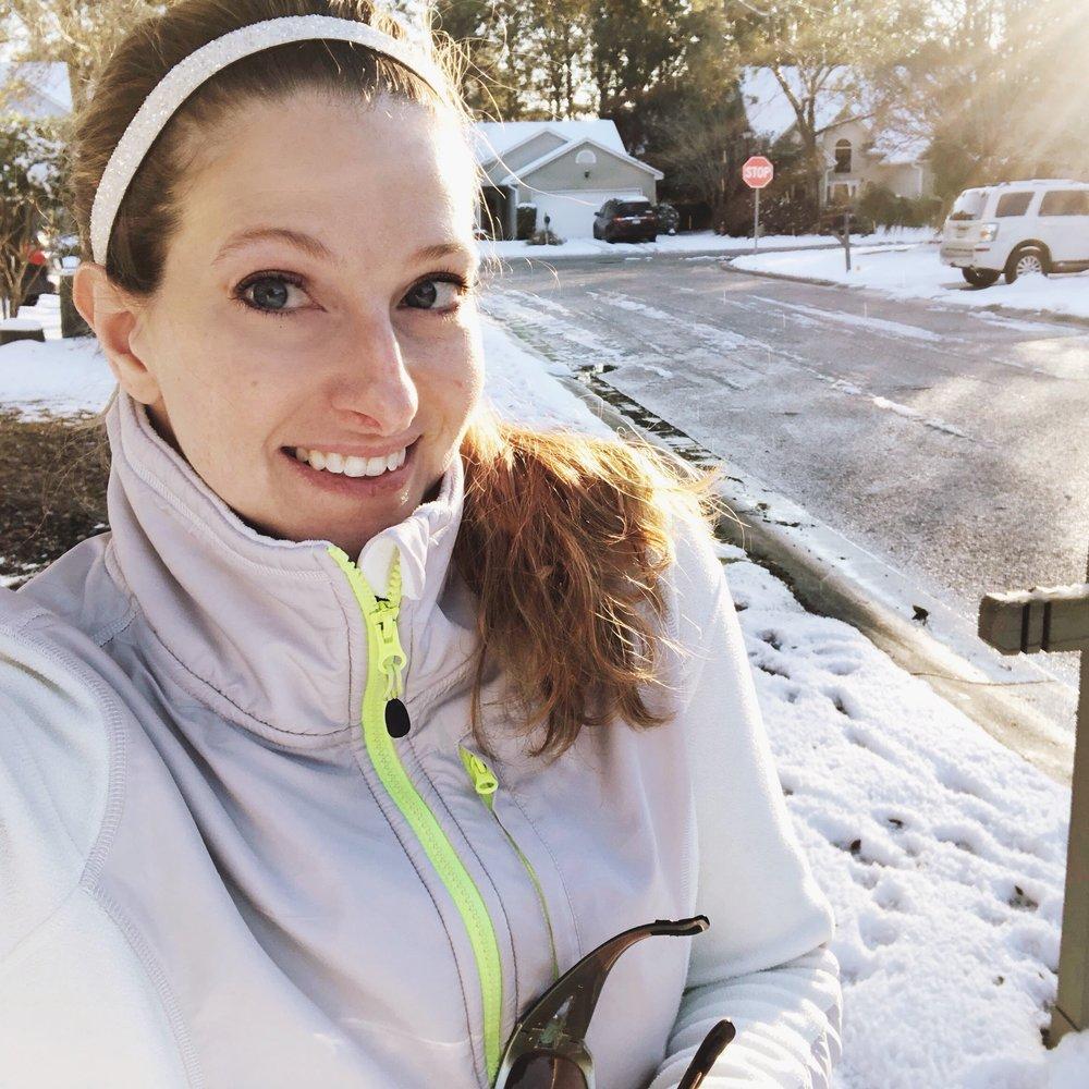 snowy run