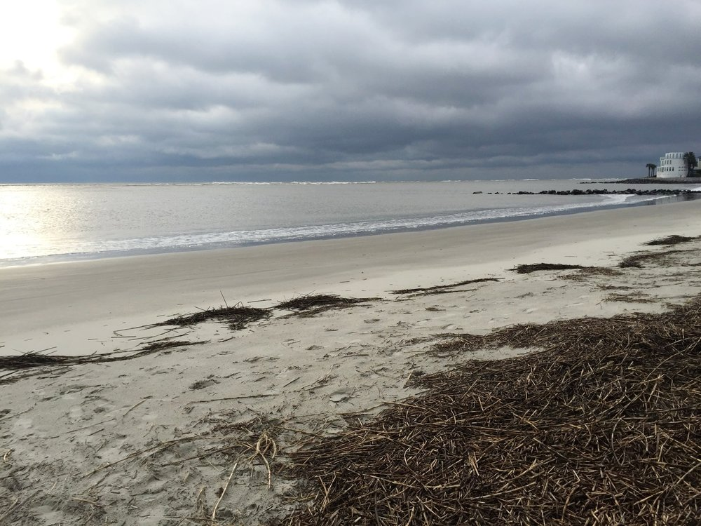 BreAch Inlet on a windy, cloudy day