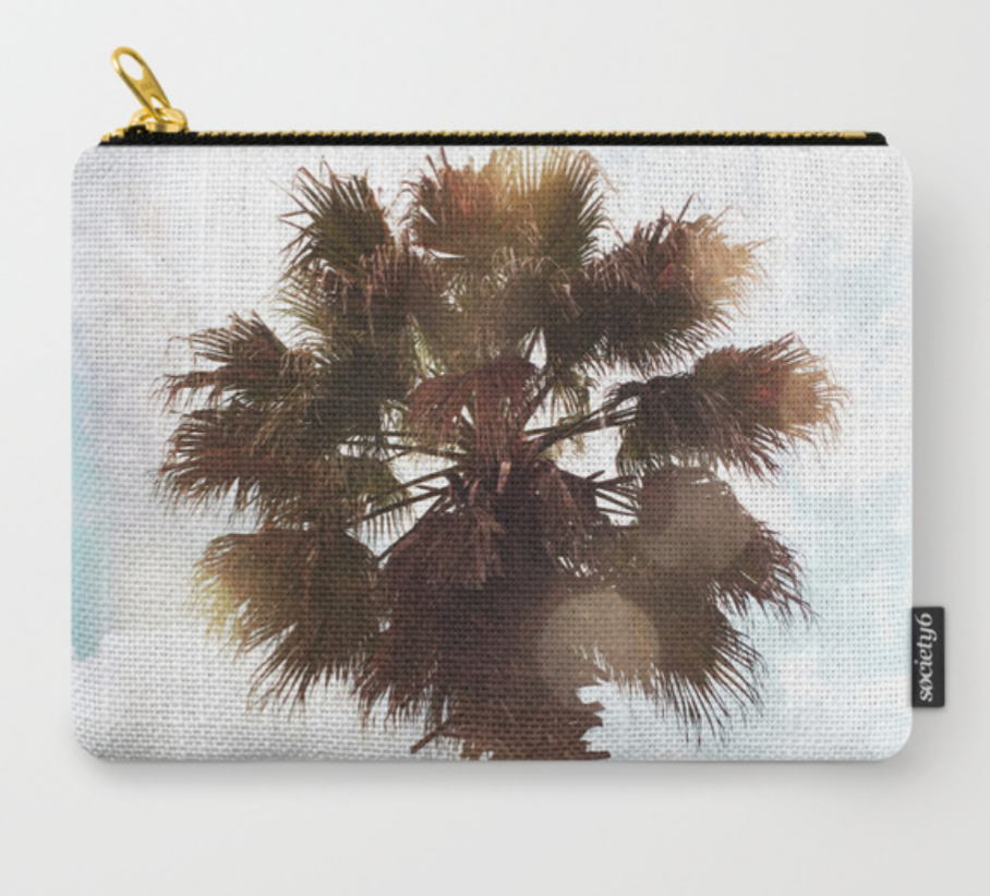 small bag with palm tree