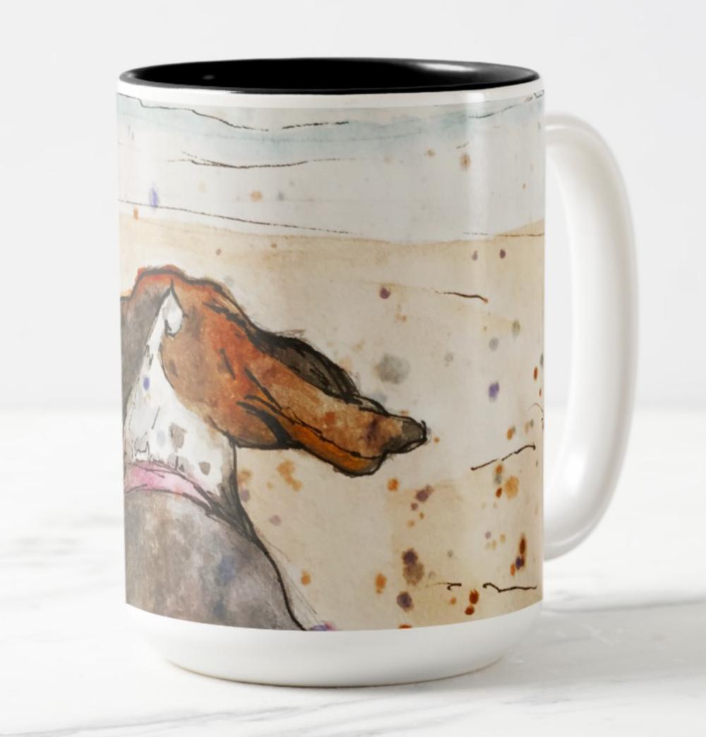 beach beagle mug