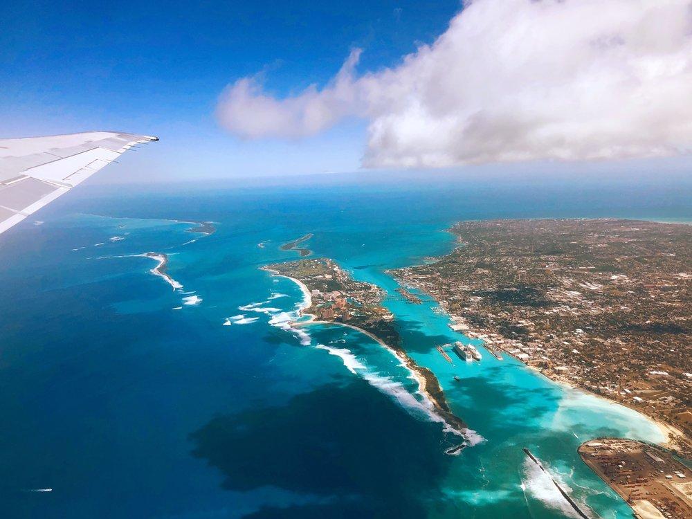 Bahamas from the sky
