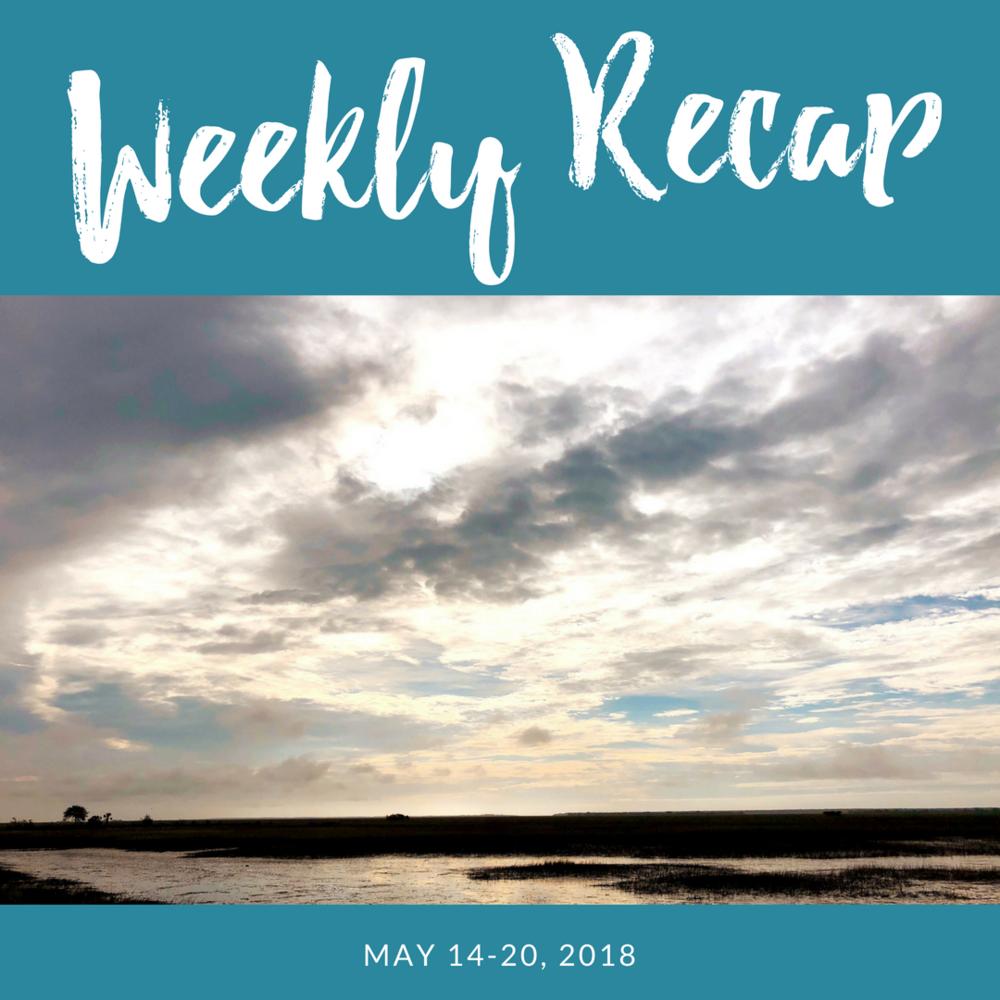 weekly recap may 14-20