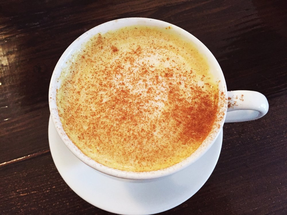 A latte at rachel's