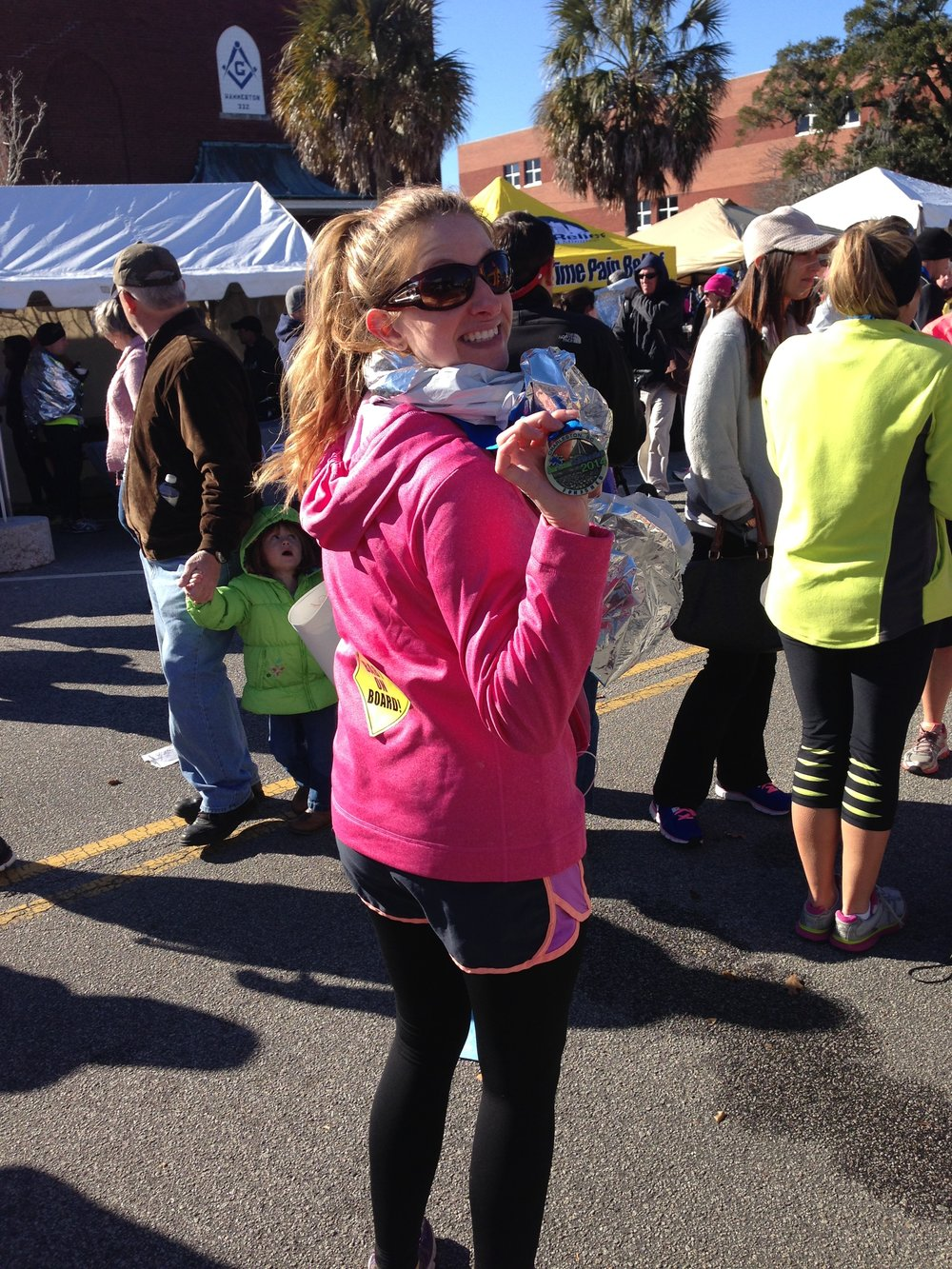 After finishing a half marathon at 20 weeks pregnant