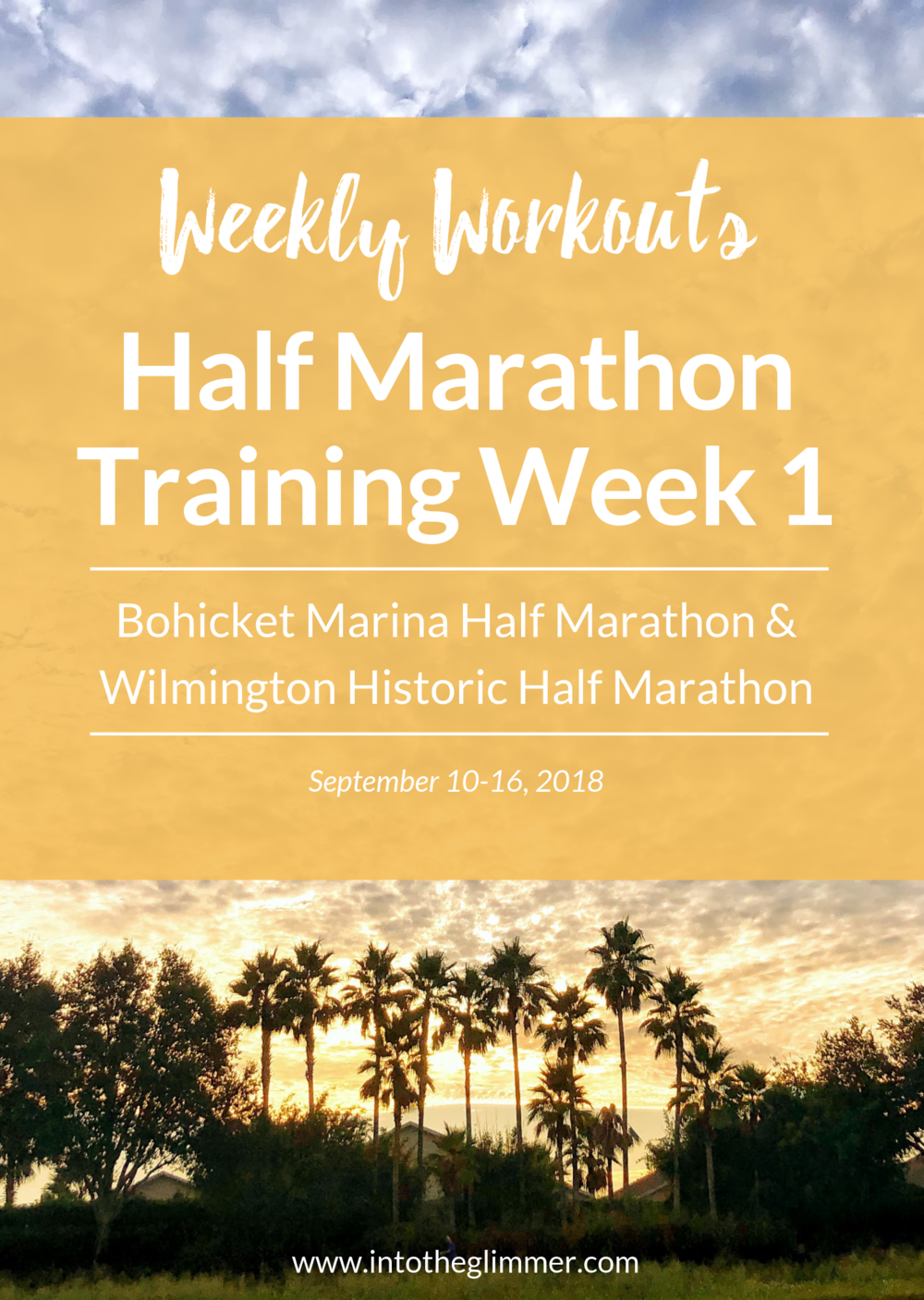 weekly recap fall 2018 half marathon training