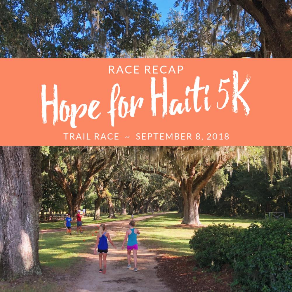 Hope for Haiti 5K Trail Race Recap