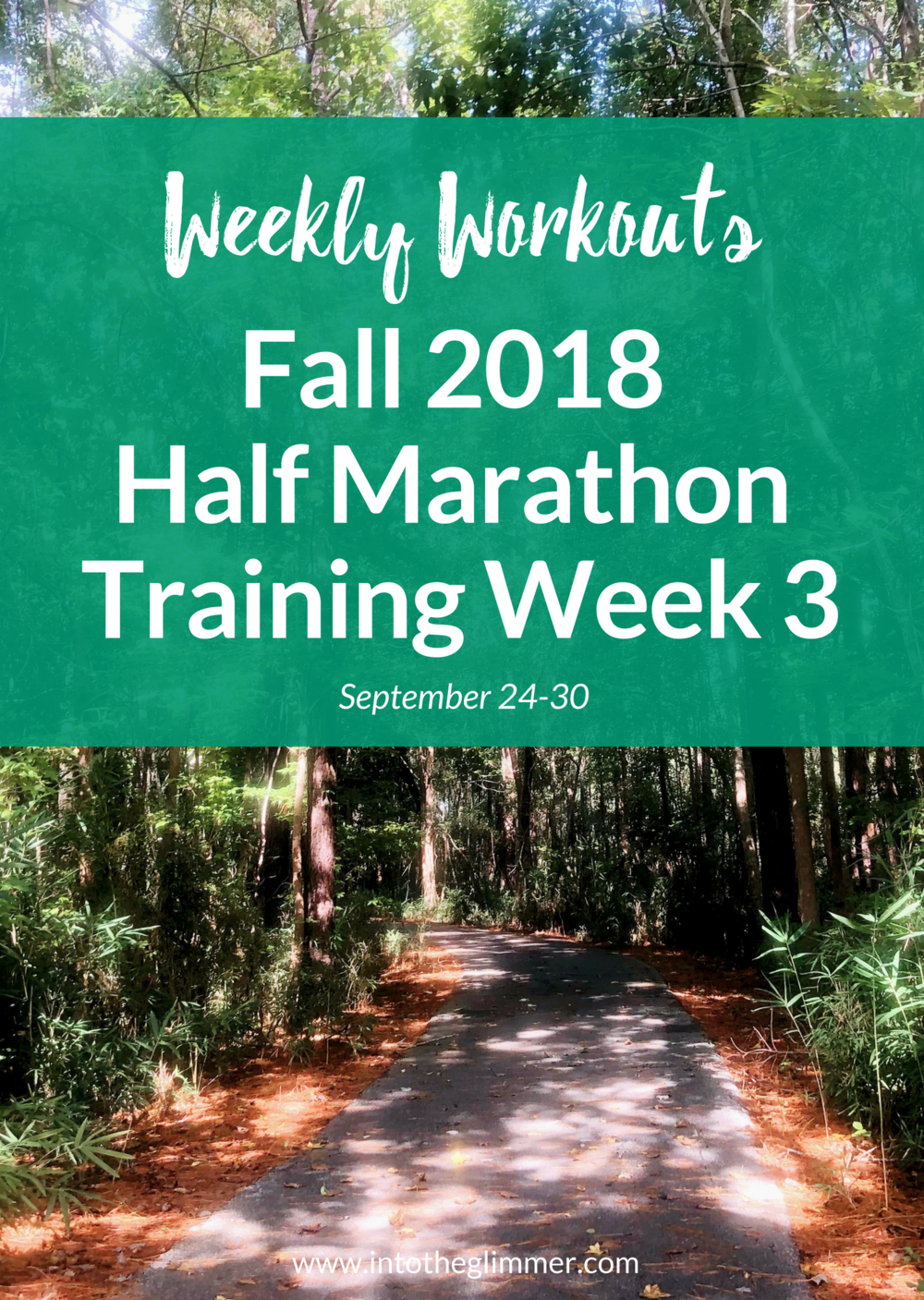 weekly recap fall 2018 half marathon training week 3