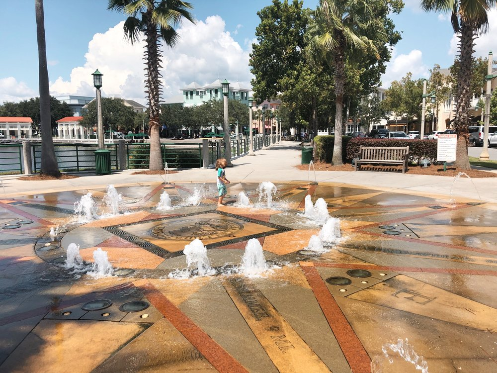 The fountain in Celebration, Florida