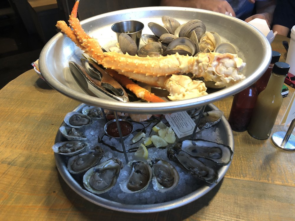 Seafood tower (those definitely help keep the iron levels up!)