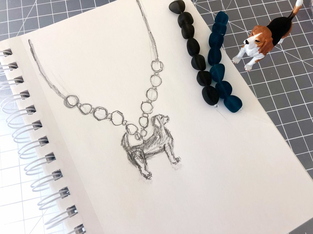 Beagle necklace idea 1