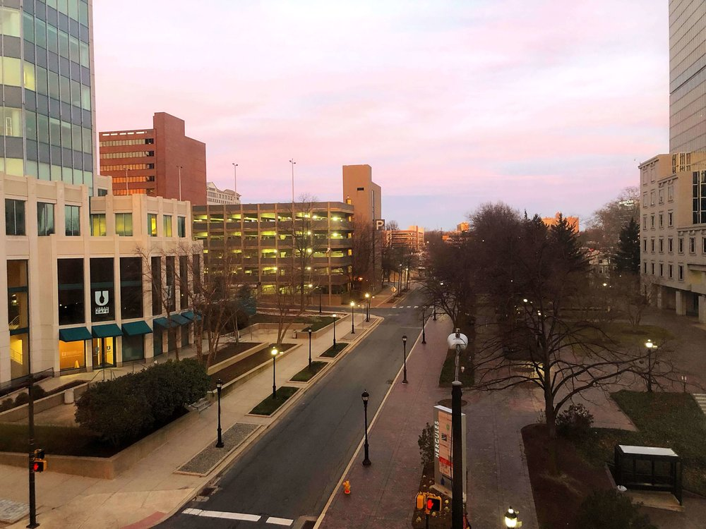 This was pretty much all we saw of Wilmington - the view from our hotel room